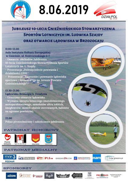 Jubileusz 10 – lecia istnienia i działalności Gnieźnieńskiego Stowarzyszenia Sportów Lotniczych im. Ludwika Szajdy